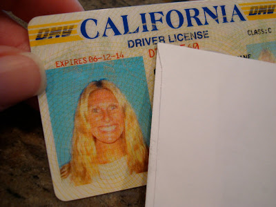 Womans California Drivers license