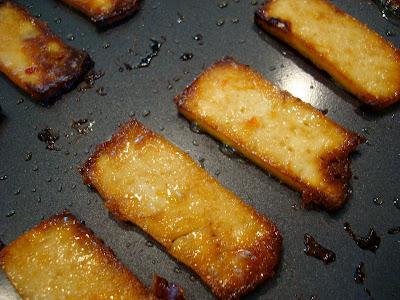 Close up of Mango Ginger Maple Tofu