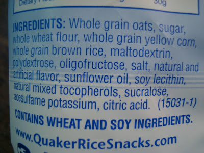 Ingredients of rice cakes