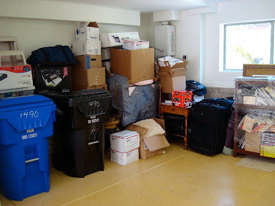 Garage full of storage items
