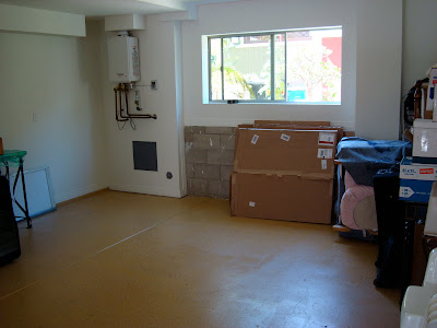 Garage after being rearranged