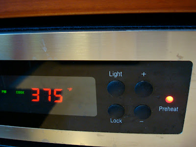 Oven preheated to 375 degrees F