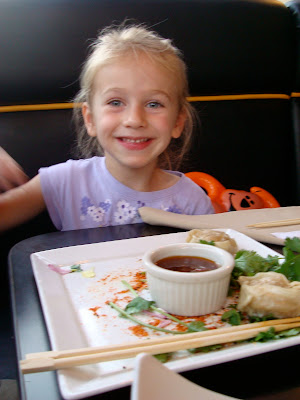 skylar at sushi restaurant