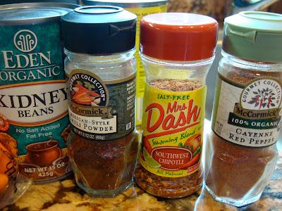 Close up of some ingredients needed to make Vegan Crock Pot Chili