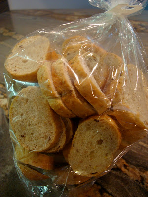 Bag of baguette slices