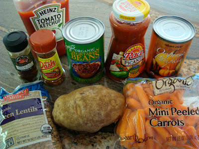 Ingredients needed to make Hearty Vegan Southwestern Sweet & Spicy Soup