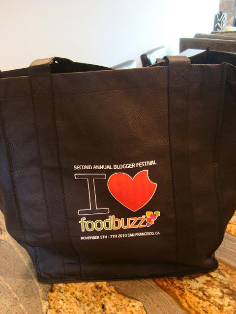 Bag saying I heard foodbuzz