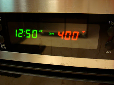 Oven preheated to 400 degrees F