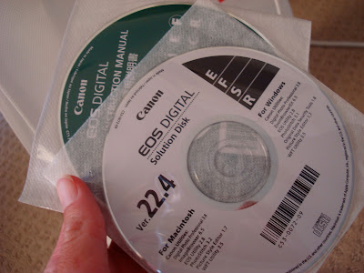 Two CD's that came with camera