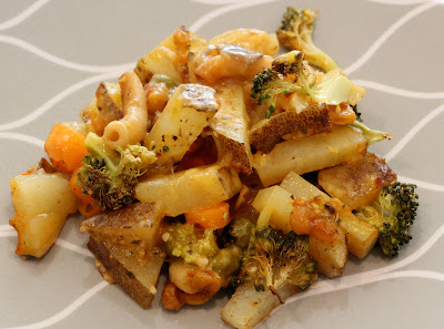 Cheezy Vegetable Bake on plate