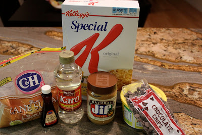 Ingredients needed to make Special K Bars