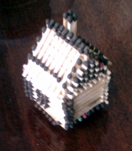 Домики из спичек инструкция