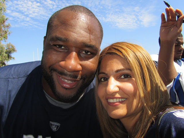Marcus Spears at Dallas Cowboys Oxnard Training camp