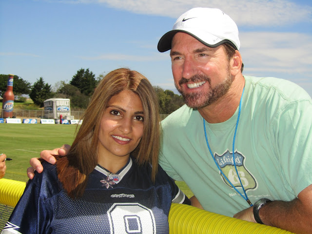 Babe Laughenberg meets fans at Dallas Cowboys training camp in Oxnard, CA
