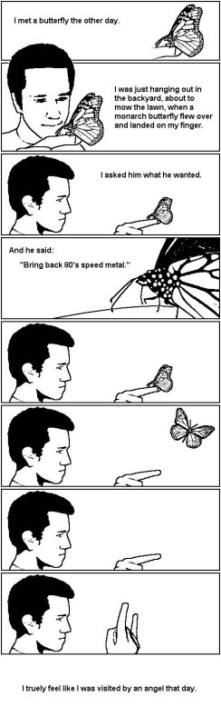 80s Speed Metal Butterfly: