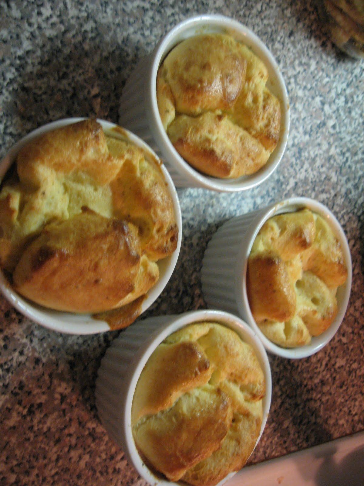 Palates & Palettes: Goat cheese souffle