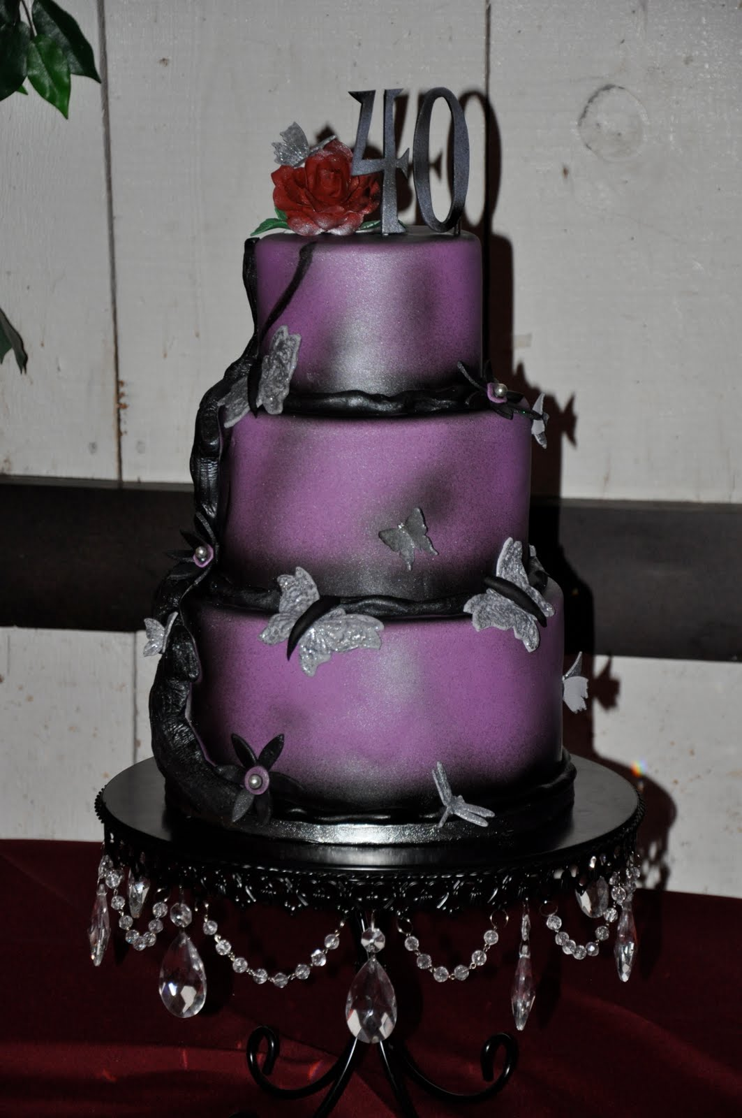 Purple Butterfly Cake on Pinterest