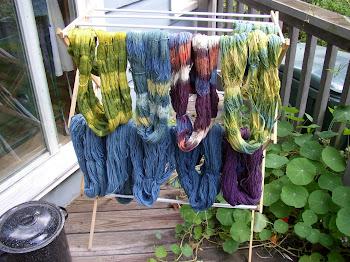 shibori-dyed yarn