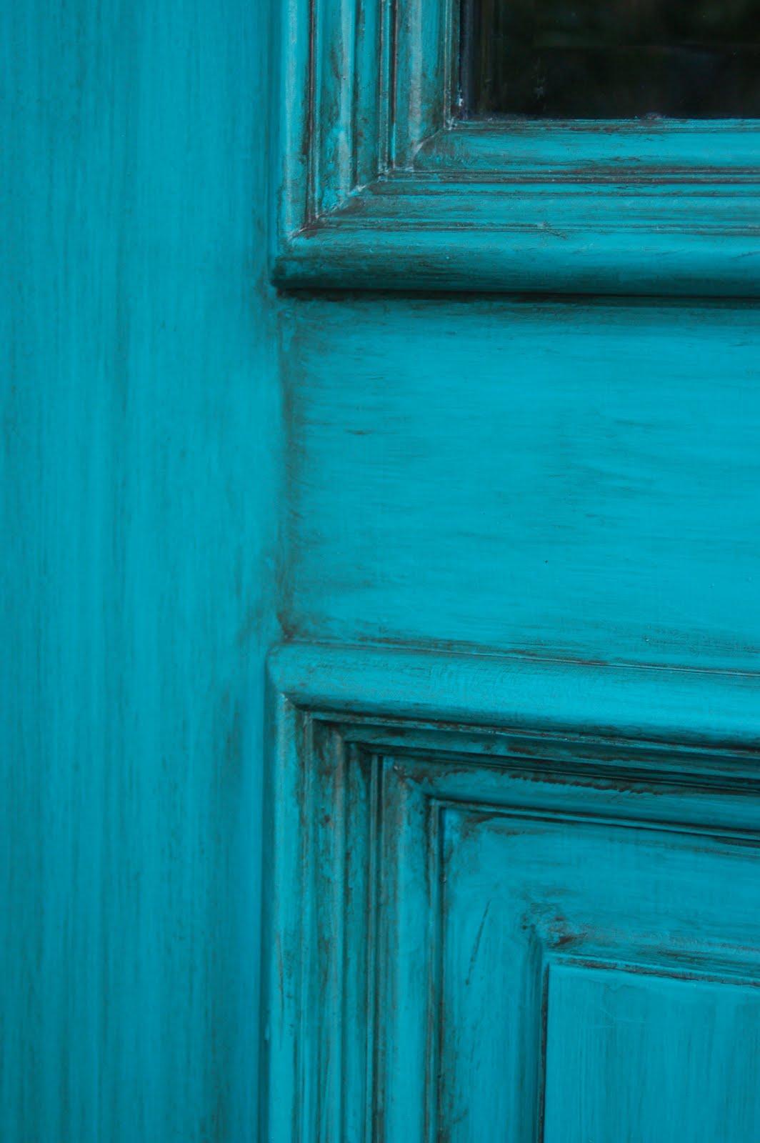 & Turquoise Front Door - Sonya Hamilton Designs