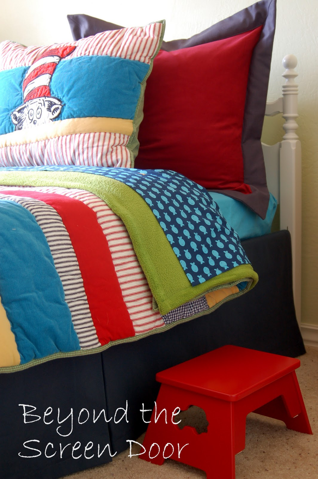Judy found an adorable line of Cat in the Hat bedding from Pottery Barn  Kids that she fell in love with. Mixing Custom and Ready Made in a Guest Room   Sonya Hamilton Designs