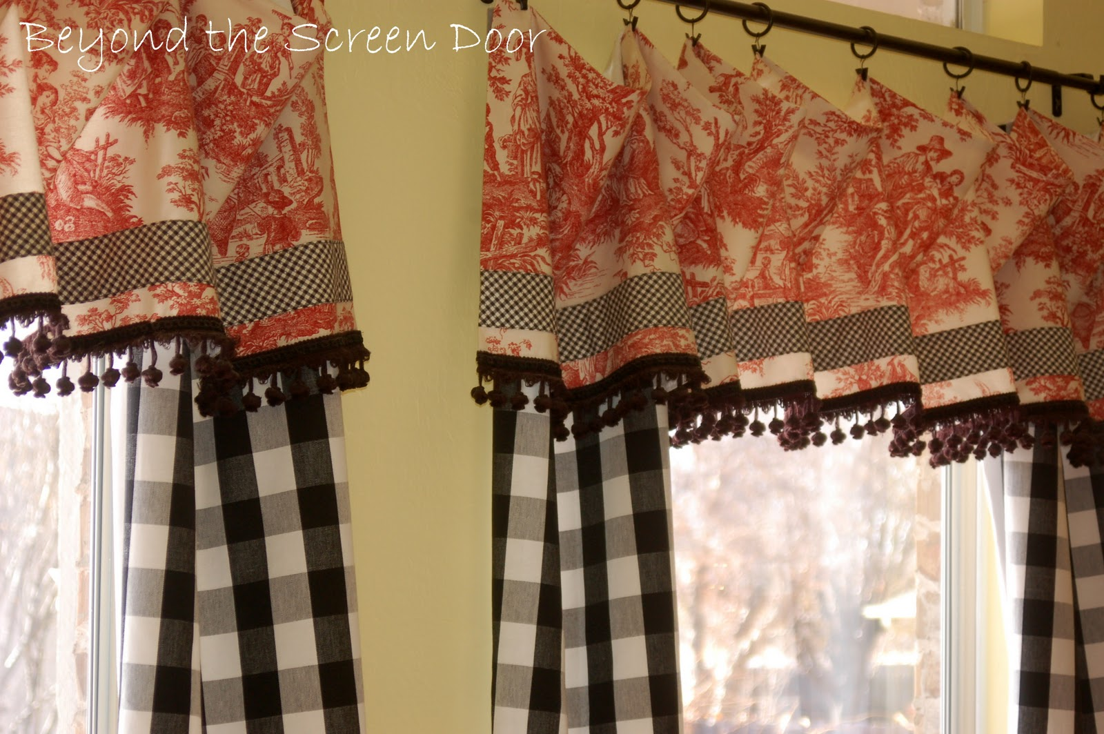 Red Curtains For Kitchen Red White And Black Kitchen Curtains Cliff Kitchen