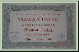 CONCURSO DE POESÍA PLUMA Y PAPEL