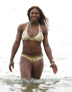 Serena Williams Bathing Suit Mishap http://viclinksusie.blogspot.com/2009/07/serena-williams-bikini-top.html