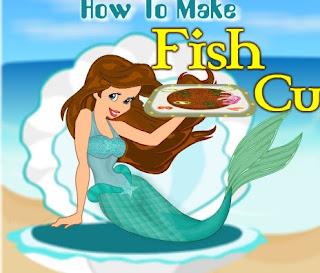 Cocinar croquetas de pescado con la sirenita