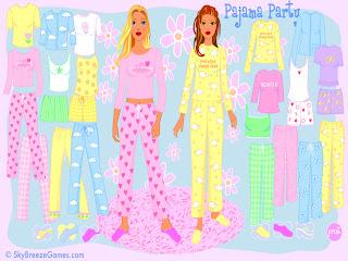 Jugar a la fiesta de pijamas