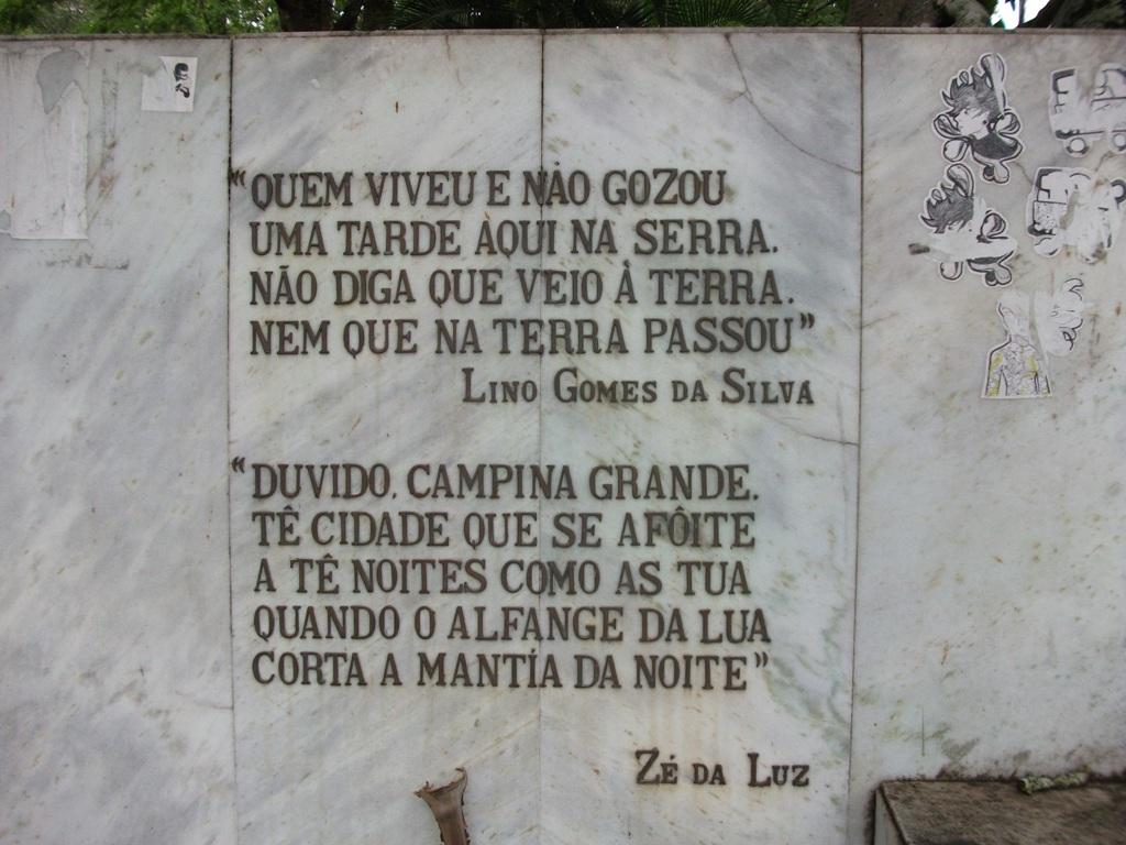 Retalhos Históricos De Campina Grande As Frases Da Praça Clementino
