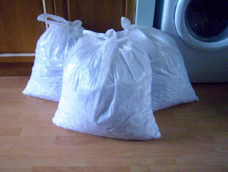 bags of shredded paper