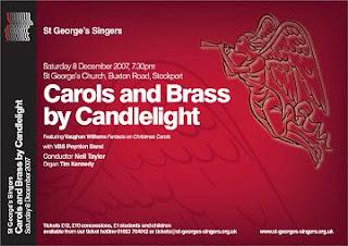 St George's Singers 2007 carol concert poster