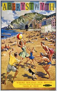 Aberystwyth railway poster