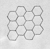 drawing of tesselatinng hexagons