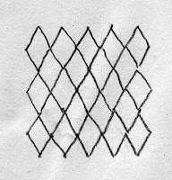 drawing of tesselating diamonds