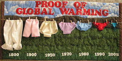 Quilt titled Proof of Global Warming