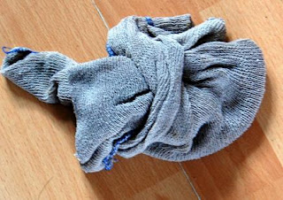Wet dishcloth