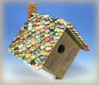 bottle-top bird house