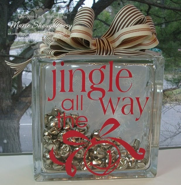 Stamping inspiration for Glass block for crafts