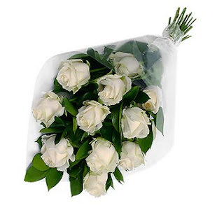 Image of Classic Bouquet of Twelve White Roses - SendRegalo.com ~ Send flowers to the Philippines, Send Roses to the Philippines