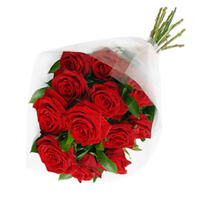 Image of Classic Bouquet of Twelve Red Roses - SendRegalo.com ~ Send flowers to the Philippines, Send Roses to the Philippines