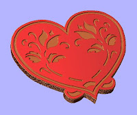 Heart 3 CNC DXF