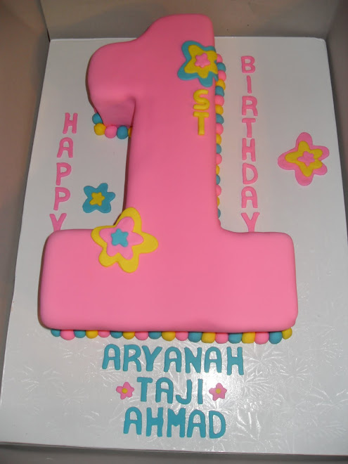 Girl's 1st Birthday Cake