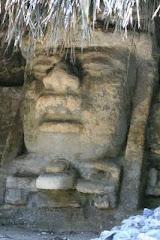 Maya Temple Head