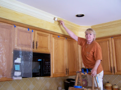 Adding crown molding to kitchen cabinets | The Small and