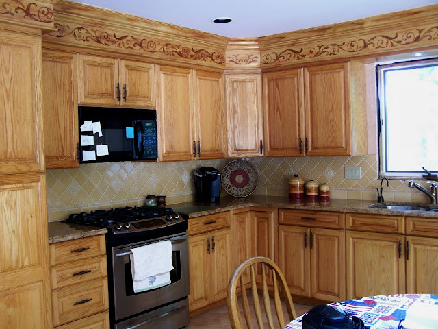 Beautiful staged homes updating a kitchen that has soffits - Kitchen soffit design ...