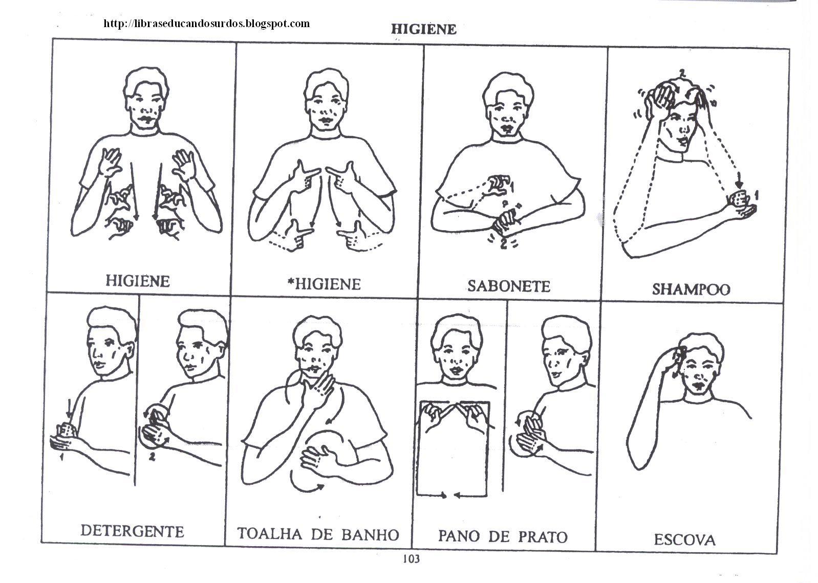 LIBRAS: Educandos Surdos: Sinais de Higiene #535158 1598 1140
