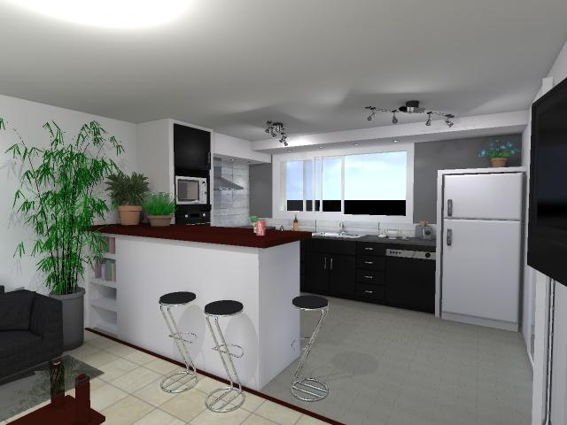 Etude et conception 3d modifications ouvertures et for Amenagement cuisine 3d