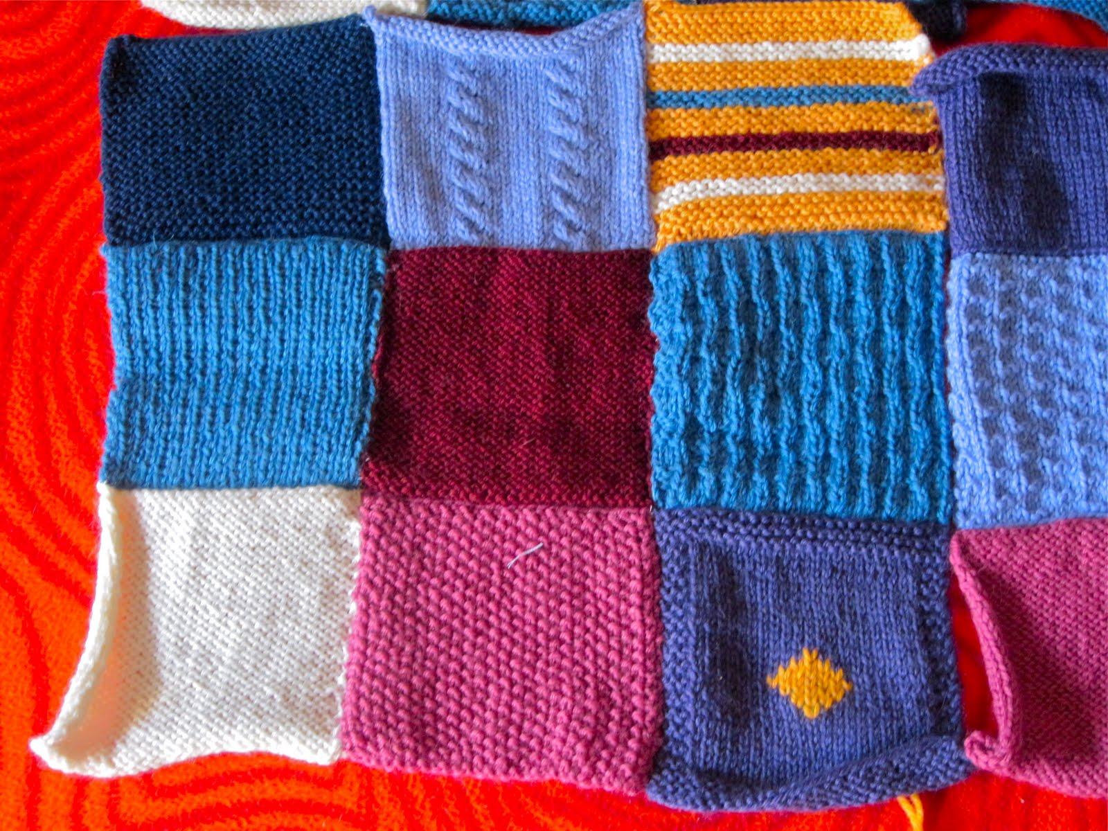 Le cose di mys maglia uncinetto telaio tutorial e coperta lana patchwork - Piastrelle di lana all uncinetto ...