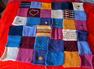Schemi di piastrelle per la coperta patchwork a maglia